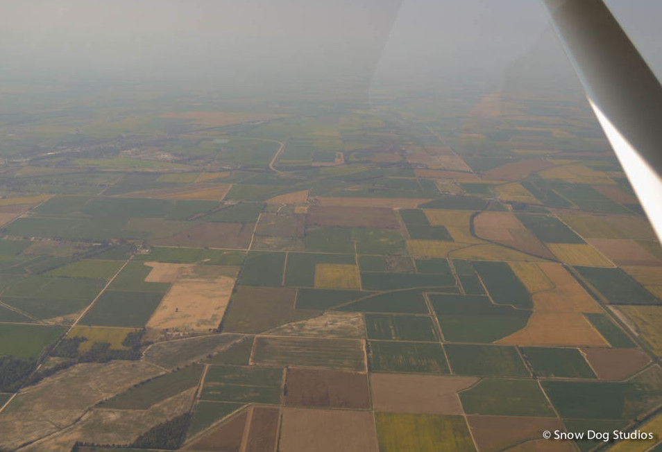 Morning in Southeast Kansas - Aerial View
