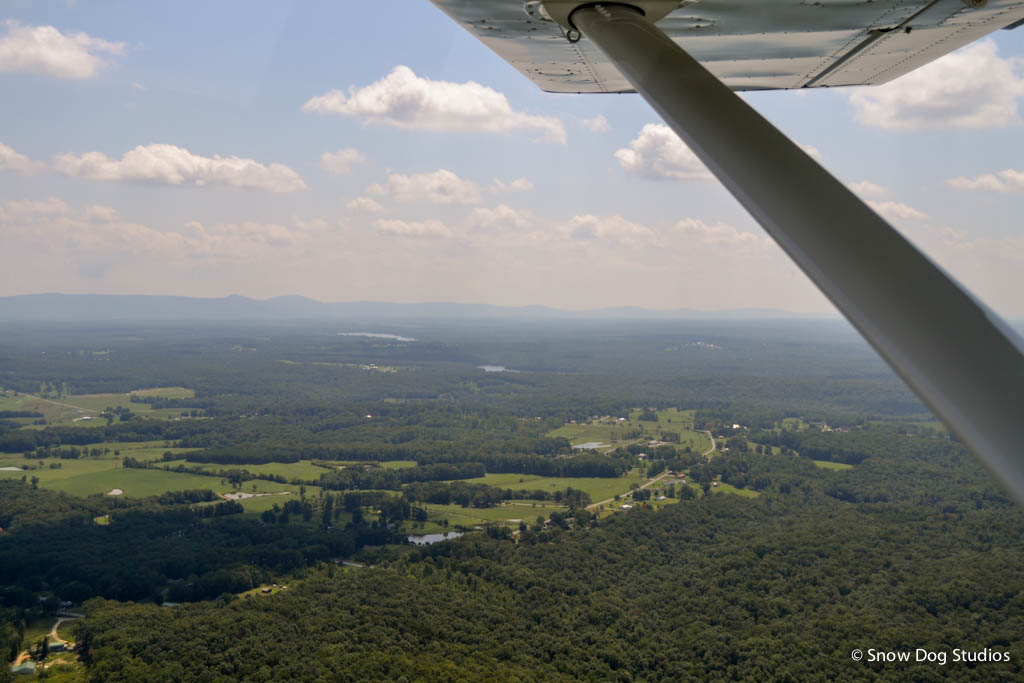 Aeriel View of Centeral Tennessee on a Summer Afternoon