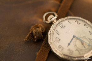 Nikon 60mm Micro lens shot of Antique Pocket Watch