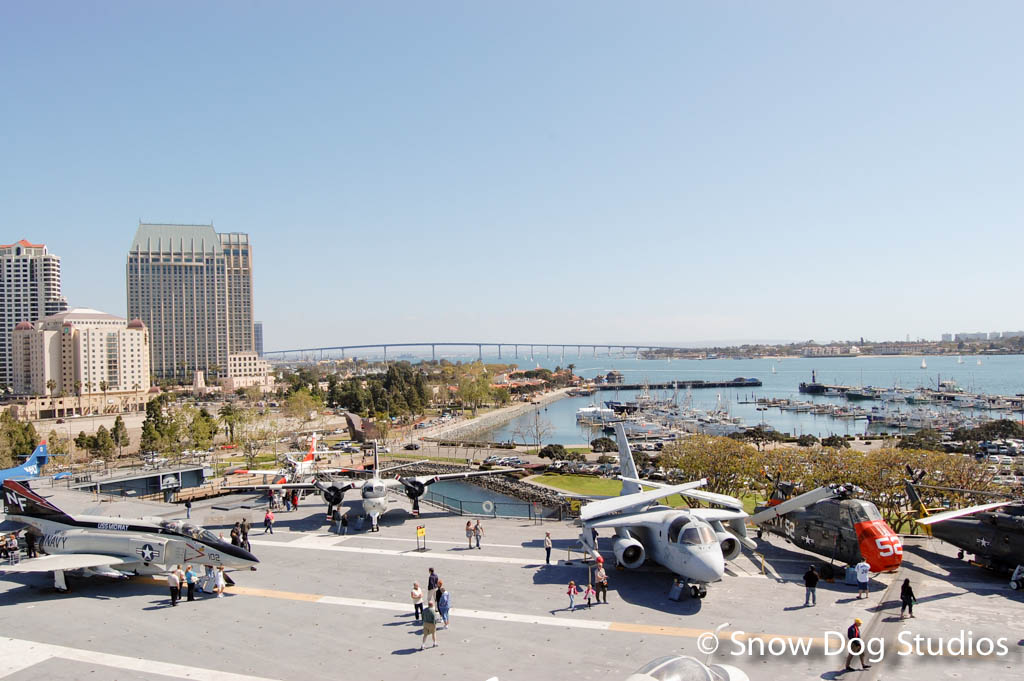 USS Midway Flight Deck viewed from Pri-Fly