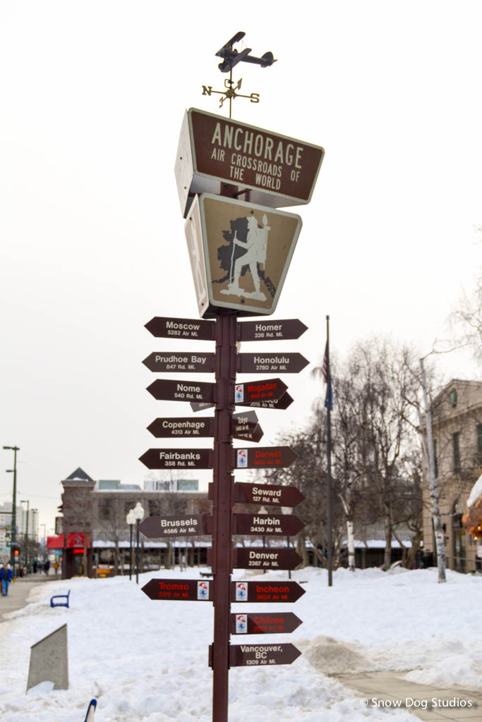 Anchorage Mileage Marker Post