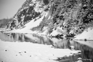 Portage Creek in Black and White