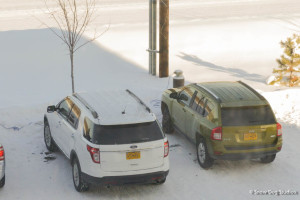 Hotel Parking Lot - with block heater plugs