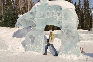 Ice Art Sculpture - Visiting Fairbanks in Winter