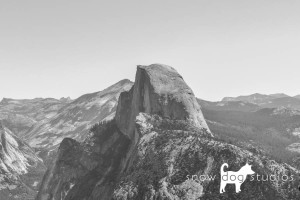black and white photography - Half Dome